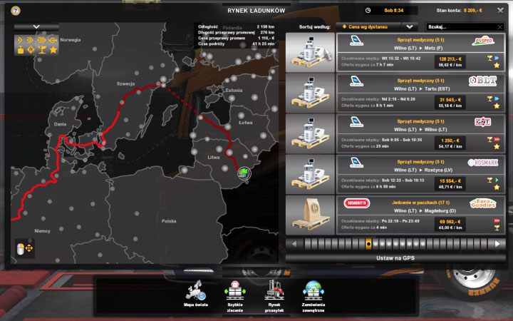 Cargo market in ETS2 Beyond the Baltic Sea - Euro Truck