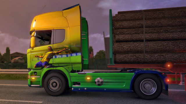 This add-on gives you four additional paint jobs in the Scottish colors - Official add-ons - DLC in Euro Truck 2 - First steps - Euro Truck Simulator 2 Game Guide