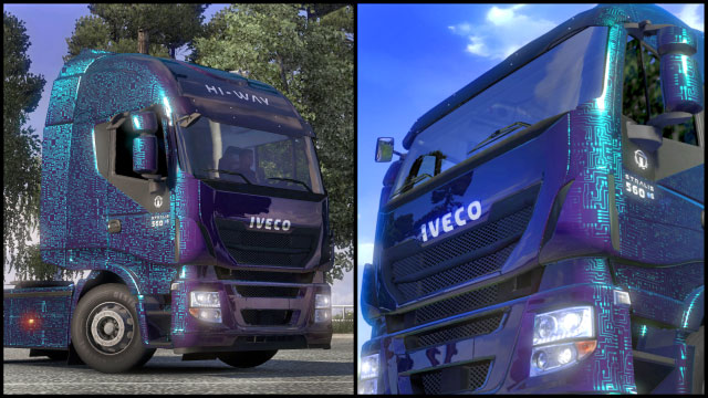 This add-on gives you six additional paint jobs in the Fantasy colors - Official add-ons - DLC in Euro Truck 2 - First steps - Euro Truck Simulator 2 Game Guide