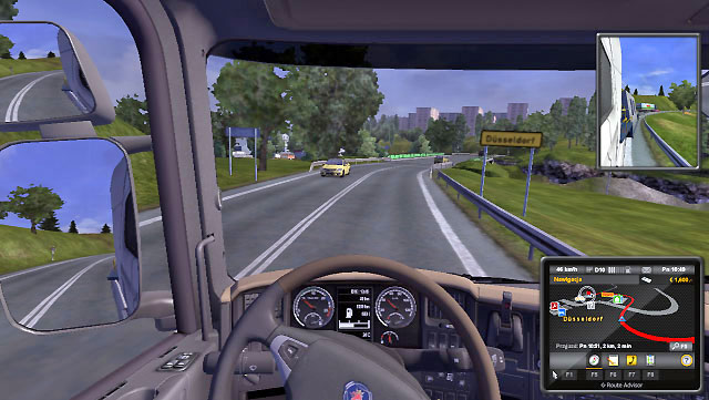 When you start the game, you are assigned to a quick order and you hit the road driving someone elses truck - Driver - lessee | Career - Career - Euro Truck Simulator 2 Game Guide