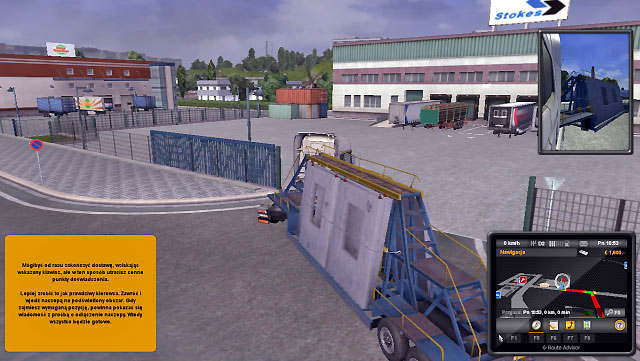 When you get to your destination place, you may use quick park system, but this will cost you experience points - Driver - lessee | Career - Career - Euro Truck Simulator 2 Game Guide