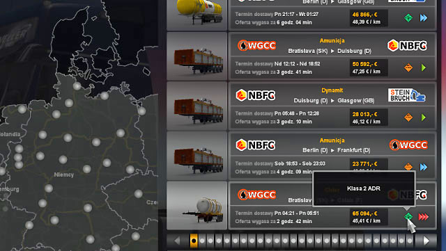 This gives you permission to transport dangerous substances - Skills - Driver - Euro Truck Simulator 2 - Game Guide and Walkthrough
