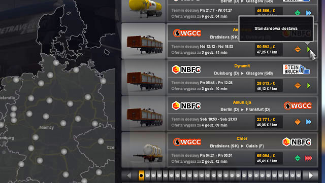 This skill unlocks orders with short delivery time - Skills - Driver - Euro Truck Simulator 2 - Game Guide and Walkthrough