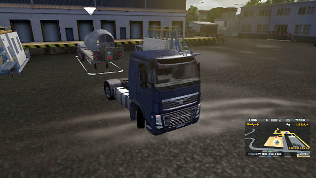 You will find the trailer at the company premises - it is your order - Consignment - Job market - Euro Truck Simulator 2 - Game Guide and Walkthrough