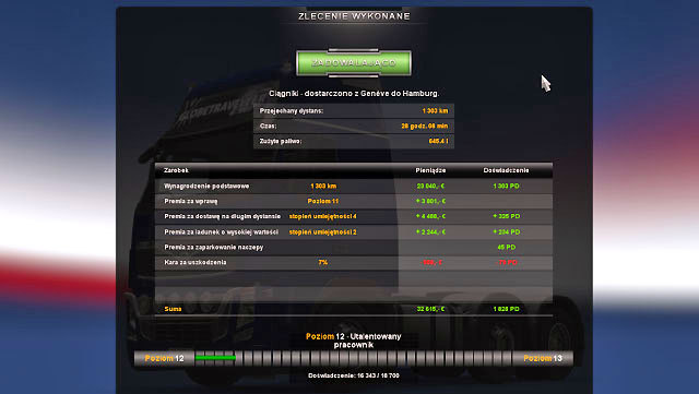 Here you can check the summary as well - Consignment | Job market - Job market - Euro Truck Simulator 2 Game Guide