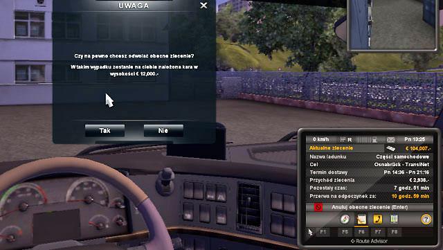 Cancelling order | Job market - Euro Truck Simulator 2 Game Guide