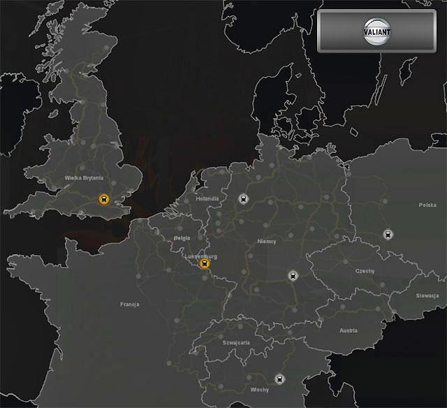 Truck dealers: Valiant (Map) | Truck dealers - Euro Truck Simulator 2 Game Guide | gamepressure.com
