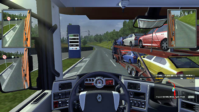 On a highway it is not a problem to overtake someone when you have two or three lanes available - Overtaking | Driving your truck - Driving your truck - Euro Truck Simulator 2 Game Guide
