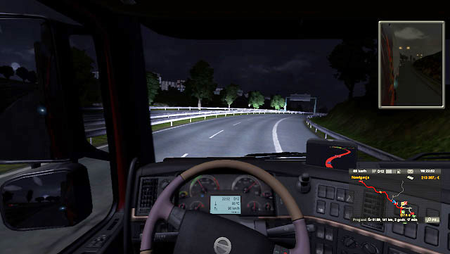 It seems that a highway is a secure place but in fact, it is not always like that - Turning | Driving your truck - Driving your truck - Euro Truck Simulator 2 Game Guide