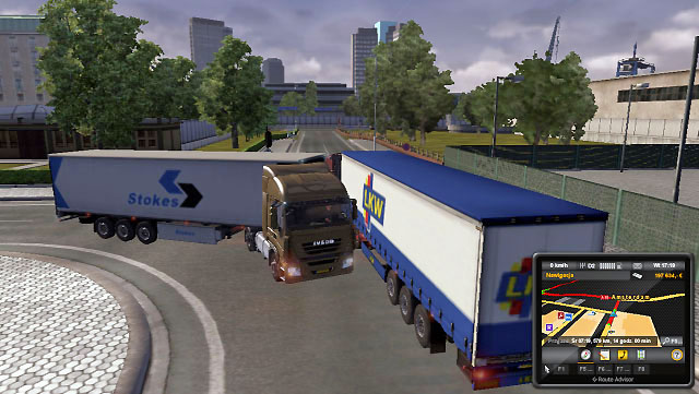 Also pay attention when driving through narrow city streets - Turning | Driving your truck - Driving your truck - Euro Truck Simulator 2 Game Guide