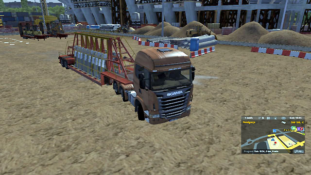 When the trailer is turned enough, start turning the wheel the other way to set the truck straight - Park the trailer - Driving your truck - Euro Truck Simulator 2 - Game Guide and Walkthrough