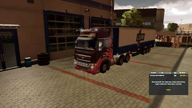 You will be brought to a car repair shop - Accident and calling emergency road service | Driving your truck - Driving your truck - Euro Truck Simulator 2 Game Guide