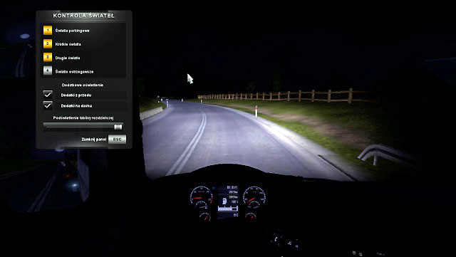 Setting Lights Driving Your Truck Euro Truck Simulator 2 Game