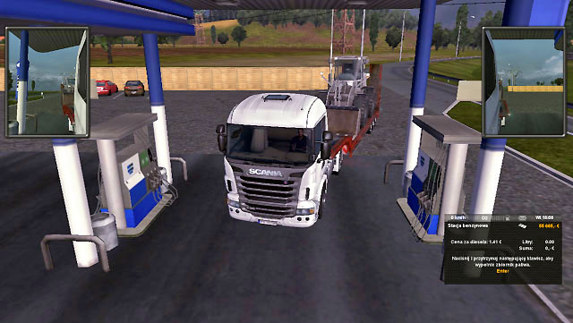 To take fuel park near the fuel dispenser where the green icon is displayed - Taking fuel | Driving your truck - Driving your truck - Euro Truck Simulator 2 Game Guide
