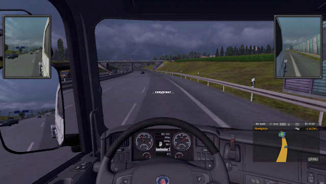 If you neglect messages remaining about taking a rest, the notifications will become more frequent, you will hear yawning sound and the picture will get darker with displayed falling asleep message - Drivers rest | Driving your truck - Driving your truck - Euro Truck Simulator 2 Game Guide
