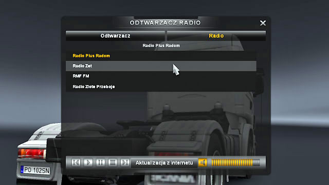 To listen to your favorite radio stations you have to modify the live_streams - Radio and music player - Driving your truck - Euro Truck Simulator 2 - Game Guide and Walkthrough