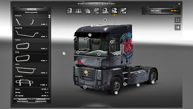 Two last tabs are accessories - Upgrades - Repair and modifications - Euro Truck Simulator 2 - Game Guide and Walkthrough