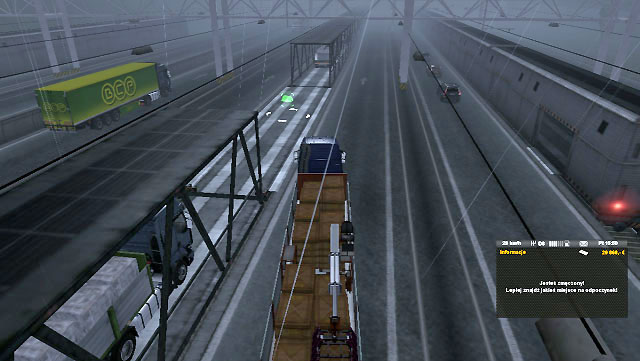 Go down and park your truck on a green icon displayed on a wagon (confirm by pressing [Enter]) - Ports and Eurotunnel (Map) | Map - Map - Euro Truck Simulator 2 Game Guide