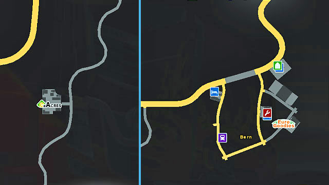 This city located near the main Swiss highway (west-east) offers only two companies (with one outside the city limits) - Switzerland | Cities - Cities - Euro Truck Simulator 2 Game Guide