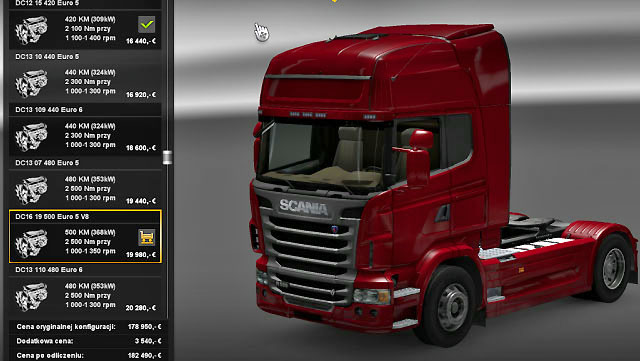 The most important parameter is the engine - Truck models | Truck dealers - Truck dealers - Euro Truck Simulator 2 Game Guide