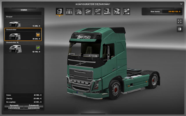 This upgrade does not influence driving features - Upgrades - Repair and modifications - Euro Truck Simulator 2 - Game Guide and Walkthrough