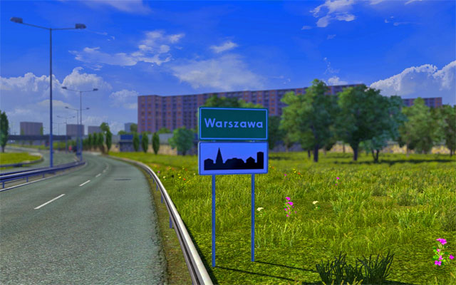 The game offers city roads, roads connecting cities and highways - Types of roads and speed limits | Roads - Roads - Euro Truck Simulator 2 Game Guide