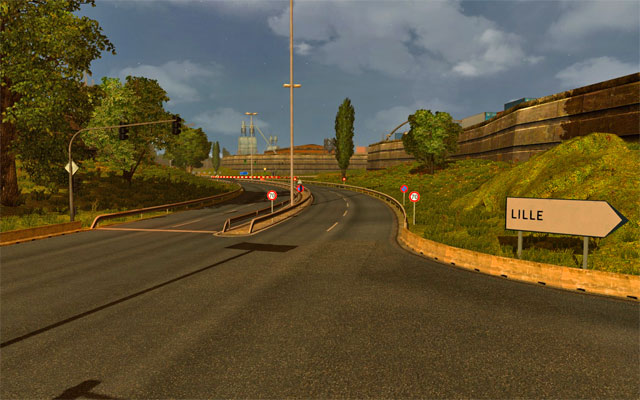 France has a network of convenient (mostly two lane) highways - France | Roads - Roads - Euro Truck Simulator 2 Game Guide
