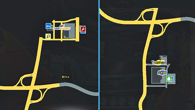 The city is located on two sides of a highway connecting Prague with Vienna and Bratislava - The Czech Republic and Slovakia | Cities - Cities - Euro Truck Simulator 2 Game Guide