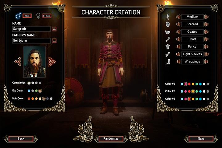 Character creation screen - Character creation and statistics - The Basics - Expeditions: Viking Game Guide