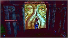 The door can be found on the right side of the garden, right next to the mansion - Sunset House - Golden Doors - Fable III - Game Guide and Walkthrough