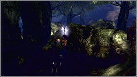 Head to the forest village and turn left before the entrance (behind the drowned platform) - Mourningwood - Silver Keys - Fable III - Game Guide and Walkthrough