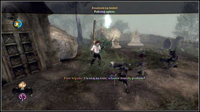 Your dog will find something by one of the tombstones - Mourningwood - p. 1 - Side Missions - Fable III - Game Guide and Walkthrough