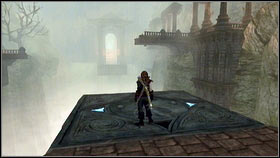 The entrance to the location can be found on the top of the stairs, behind the large stone sculpture [1] - Mourningwood - p. 1 - Side Missions - Fable III - Game Guide and Walkthrough