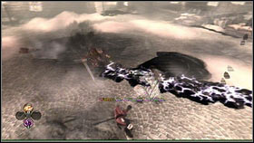 Just like the monster met before, he'll create black circles on the ground [1] and shock waves [2] which can be avoided with a roll - Royal Schedule - p. 2 - Walkthrough - Fable III - Game Guide and Walkthrough