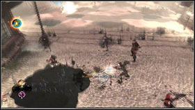 The enemy forces will be numerous [1] [2], but if you have a high magic level, all you have to do is spam area spells to quickly clear the square - Royal Schedule - p. 2 - Walkthrough - Fable III - Game Guide and Walkthrough