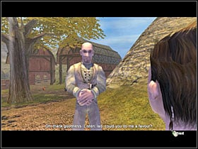 Behind one of the cottages you will find a couple, obviously making out - Birthday Gift - Golden Quests - Fable: The Lost Chapters - Game Guide and Walkthrough