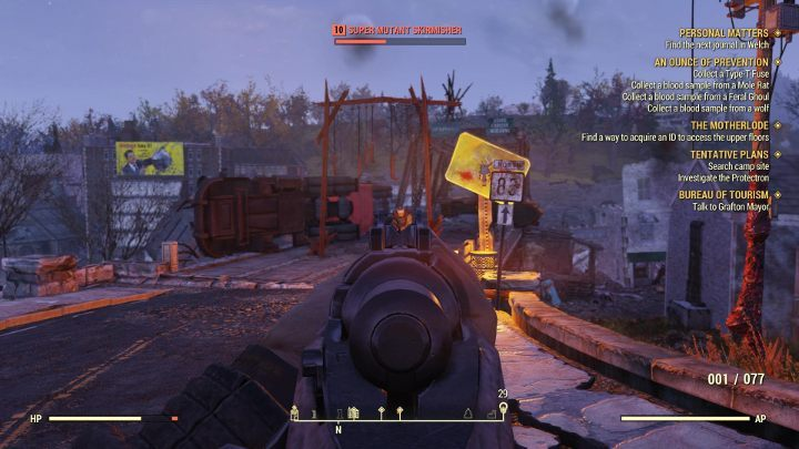 Most of the Super Mutants drop a few caps. - How to earn caps easily Fallout 76? - FAQ - Fallout 76 Guide