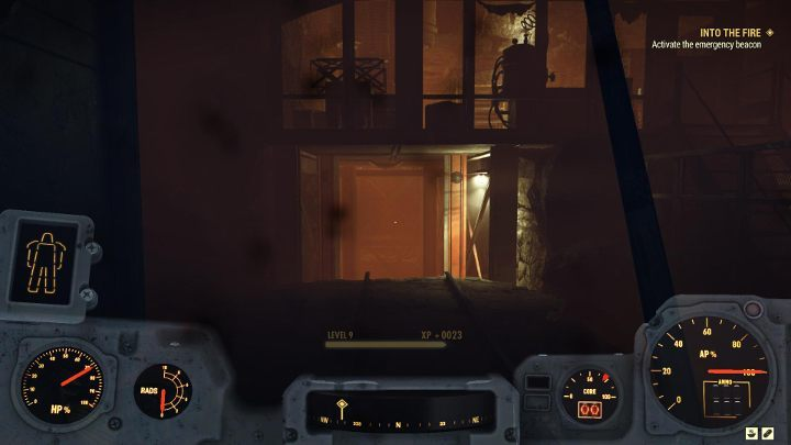 In the place shown in the picture above, you have to start going down - use the nearby stairs - Into the Fire - Fallout 76 Walkthrough - Main missions - Fallout 76 Guide