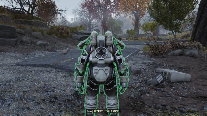 In order to use the Power Armor, you must first set it up in the game world. - How to get Power Armor in Fallout 76? - FAQ - Fallout 76 Guide