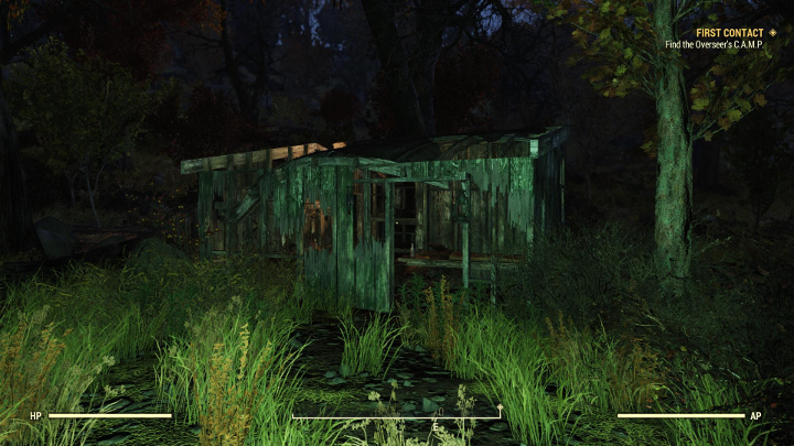 Look for a small, damaged house in the woods. - A good weapon to start with in Fallout 76 - Gameplay basics - Fallout 76 Guide