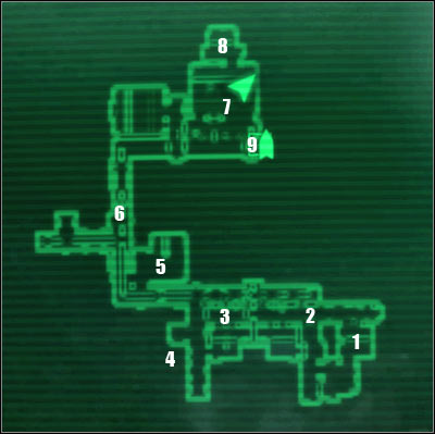 Map legend: 1 - starting area - Main quests 4: Escape! - Main quests - Fallout 3 - Game Guide and Walkthrough
