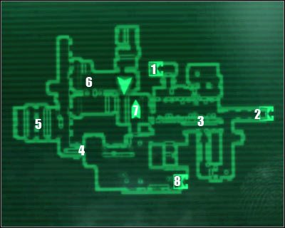 Map legend: 1 - starting area and exit to: Vault 101 - Main quests 4: Escape! - Main quests - Fallout 3 - Game Guide and Walkthrough