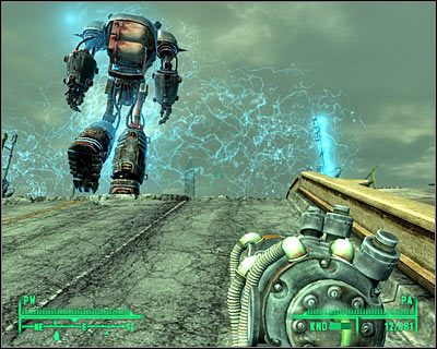 Continue moving close to the robot until you've reached the second force field - Main quests 13: Take it back! - Main quests - Fallout 3 - Game Guide and Walkthrough