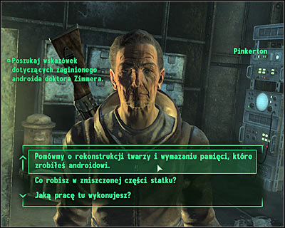 Possible endings - Rivet City: The replicated man - Side quests - Fallout 3 - Game Guide and Walkthrough