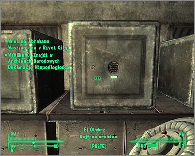 Positive outcome - Rivet City: Stealing independence - Side quests - Fallout 3 - Game Guide and Walkthrough