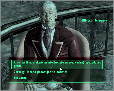 Tenpenny will give you a list of people who need to be persuaded into letting the ghouls live in the tower - Tenpenny Tower: Tenpenny Tower - Side quests - Fallout 3 - Game Guide and Walkthrough