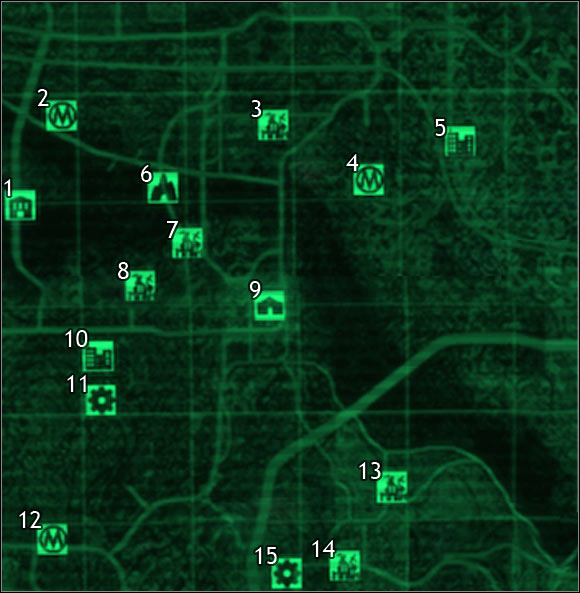 Map legend - sector 5, sector 6 - Maps of the world - Fallout 3 - Game Guide and Walkthrough
