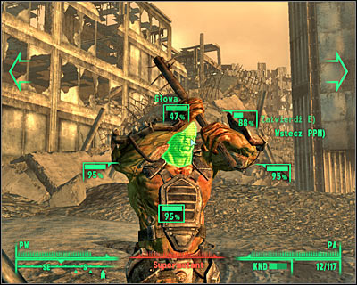 Before you start shooting at an enemy character, make sure that you have a chance of actually hitting the target, especially the head area. - Useful hints - Combat - Fallout 3 - Game Guide and Walkthrough