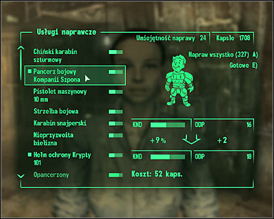 Friendly merchants can repair your equipment... for a price. - Storing equipment and doing repairs - Equipment - Fallout 3 - Game Guide and Walkthrough
