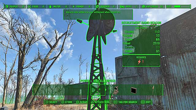 Place a radio beacon - Taking Point - Minor quests for Minutemen faction - Fallout 4 Game Guide & Walkthrough